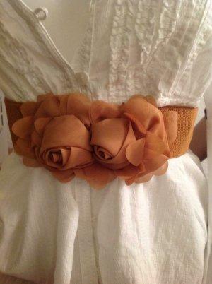 Fabric Belt cognac-coloured
