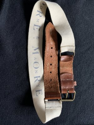 More & More Canvas Belt cream-cognac-coloured