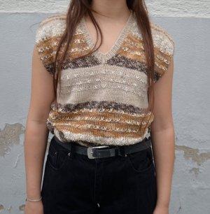 True Vintage Sweter bez rękawów z cienkiej dzianiny Wielokolorowy