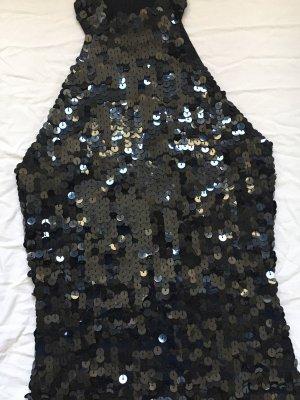 Vintage Strick schwarzes Top mit Pailletten