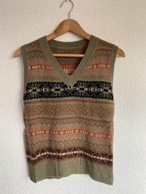 Vintage Smanicato lavorato a maglia multicolore