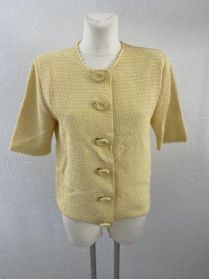 VINTAGE  70er Knitted Blazer yellow-primrose