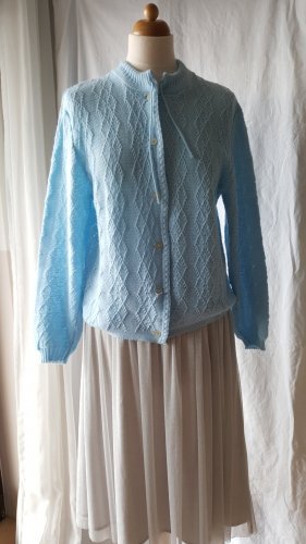 Vintage Strickjacke in Babyblau