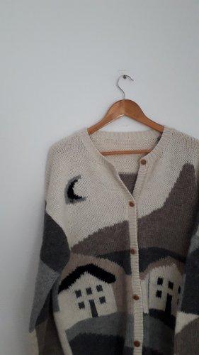 Vintage Cardigan norvégien multicolore