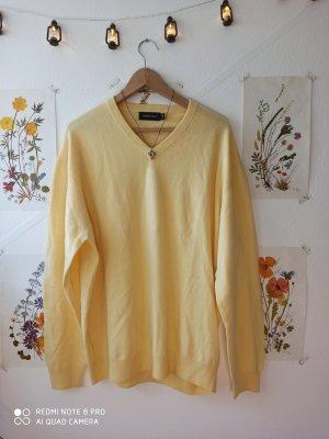 vintage Strickpullover gelb