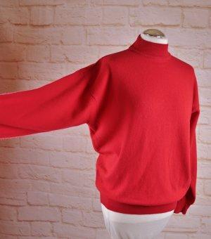 Vintage Strickpullover Stehkragen Größe M 38 40 Rot Wollpullover Wolle Strick Pulli Turtleneck O Shape