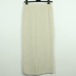 Jupe tricotée beige clair