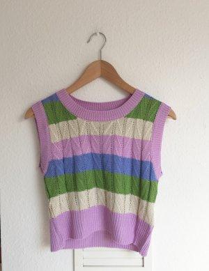 Gilet tricoté multicolore