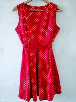 Sukienka bez ramiączek biały-czerwony