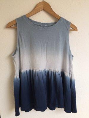 Vintage style dyed batik shirt M