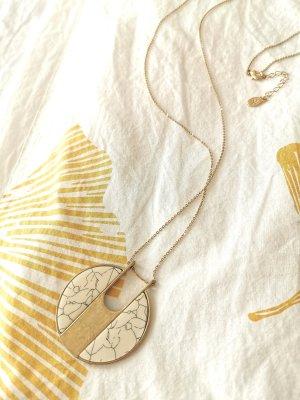 Vintage Style Gold Kette Marmor Optik