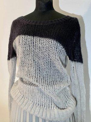 Aerie Pull tricoté noir-argenté