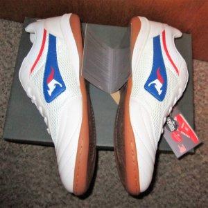 Vintage-Style Sneakers*KangaROOS*Orginal verpackt-weiß mit blau/rot-Gr.44-neu