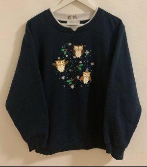 Vintage Short Sleeve Sweater dark blue
