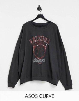 ASOS DESIGN Sweat Shirt dark grey-anthracite