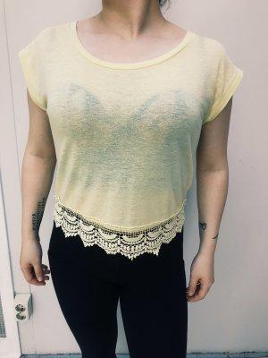 Vintage T-shirt mit Spitze in M von New Look
