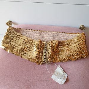 VINTAGE  70er Waist Belt gold-colored