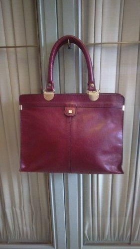 Tote purple leather