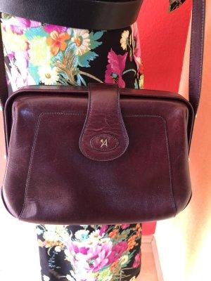 Vintage Tasche 60er Jahre Assima braun mit goldenen Verschlüssen