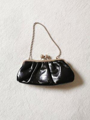 Vintage Tasche Pochette Lackleder schwarz top Zustand