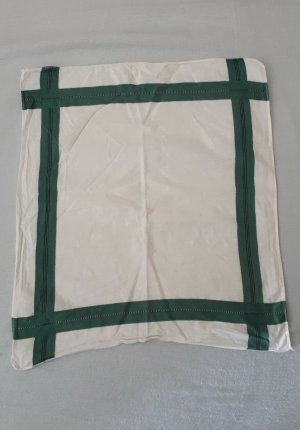 Vintage Pocket Square white-forest green cotton