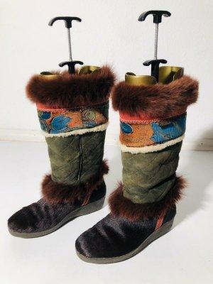 Tecnica Futrzane buty Wielokolorowy Skóra