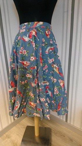 Falda de tafetán azul Algodón