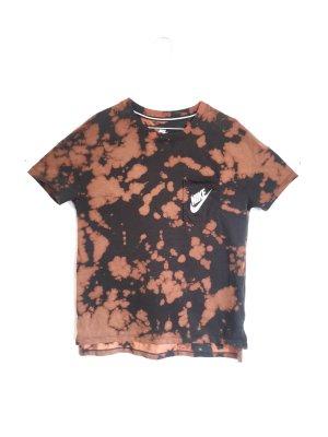Vintage Tie Dye Batik Nike T-Shirt Gr. M Schwarz Braun