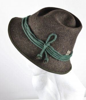 Vintage Traditional Hat anthracite-dark green wool