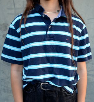 Vintage Tommy Hilfiger Shirt Gestreift Oversized