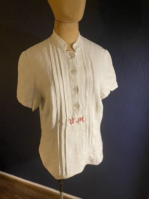 Vintage Love Folkloristische blouse wolwit Linnen