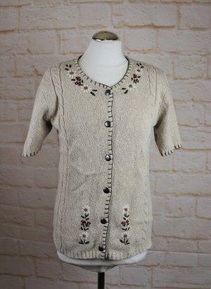 Vintage Trachten Jacke Hammerschmid Größe S 38 Strickjacke Janker Cardigan Blüten Stickerei Rockabilly