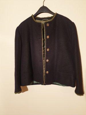 Tradycyjna kurtka czarny-oliwkowy Wełna
