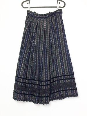 Vintage Trachtenrock lang Folklore Größe 38 Baumwolle