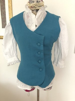 Gilet bavarois bleu acier-bleuet