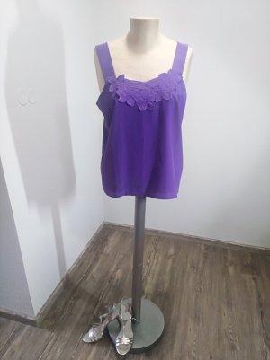 Vintage Top de encaje lila-lila