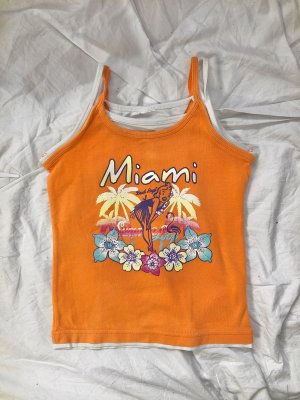 Vintage Trägertop Hawaii Orange Y2K 00s 90s