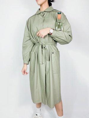 Vintage Gabardina verde grisáceo