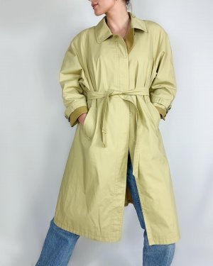 Vintage Trench Coat pale yellow