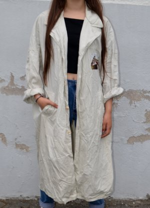 Vintage Manteau long beige clair
