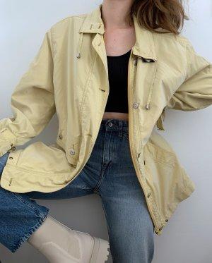 Vintage Kurtka przejściowa jasnożółty-bladożółty