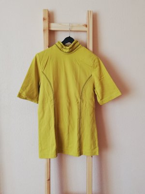 Vintage Camisa de cuello de tortuga amarillo limón