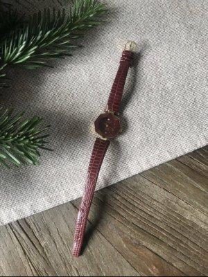 Original Vintage Montre analogue bordeau-rouge carmin
