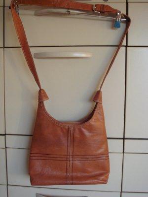Vintage - Umhängetasche Schultertasche Tasche Shopper braun - Leder