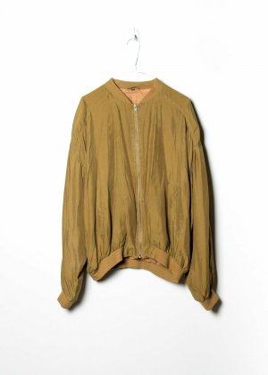 Sonstige Bomber Jacket yellow silk