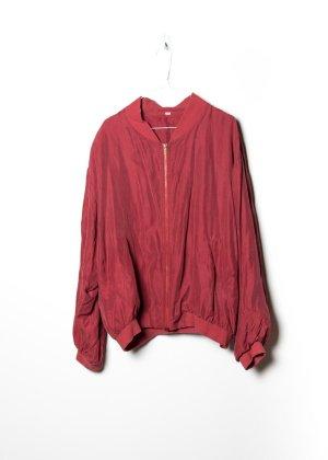 Vintage Unisex Bomberjacke in Rot