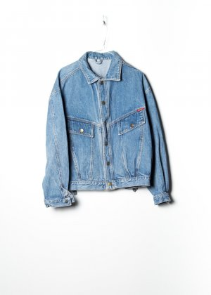 Vintage Unisex Denim Jacket in Blau