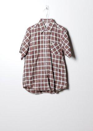 Vintage Unisex Flanellhemd in Braun