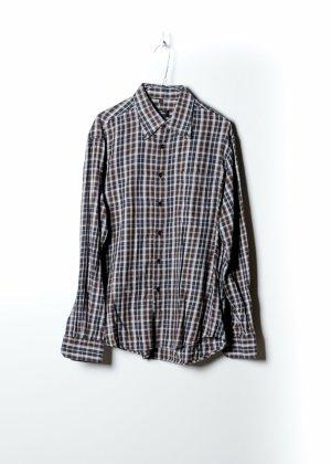 Vintage Unisex Flanellhemd in Schwarz