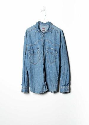 His Chemise en jean bleu jean